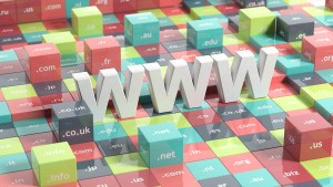 WWW in 3d with colorful cubes and domain extensions