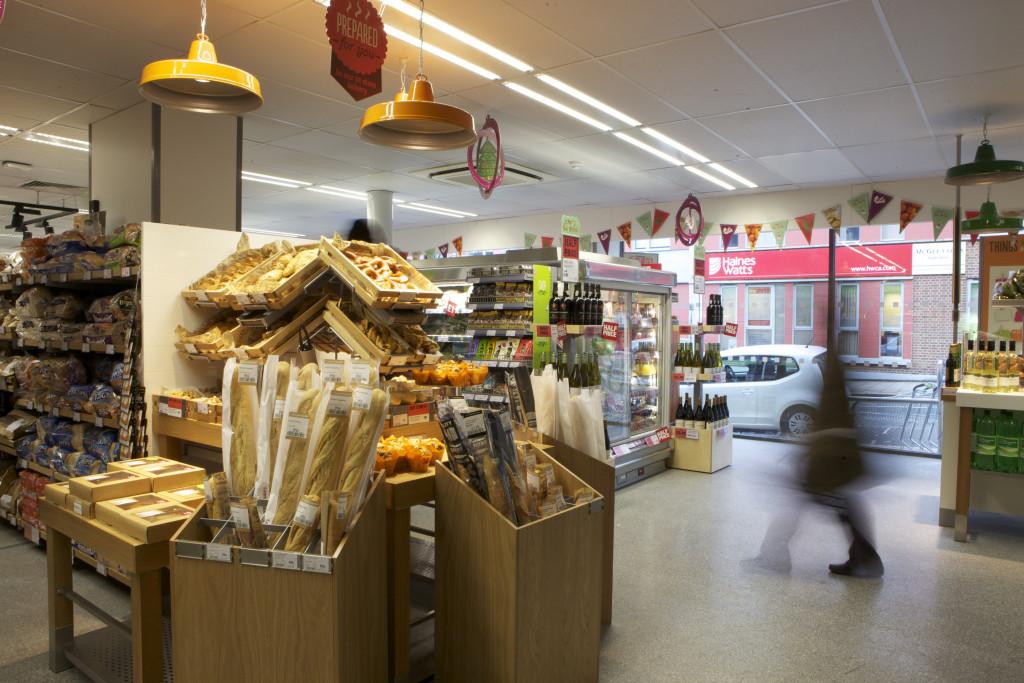 Small supermarket scene at Cooperative shop